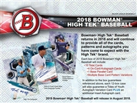 2018 Bowman High Tek Baseball Case Break #2 (1 Spot)