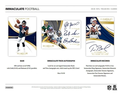 2018 Immaculate Football #4 FILLER #3 (1 spot)
