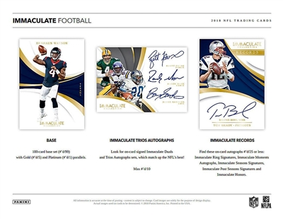 2018 Immaculate Football 6 Box Case Break #4 (1 Spot)