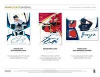 2018 Immaculate Baseball Box DOTD #5 (1 team)