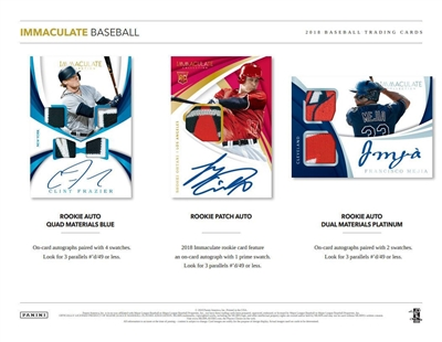 2018 Immaculate Baseball Box DOTD #4 (1 team)