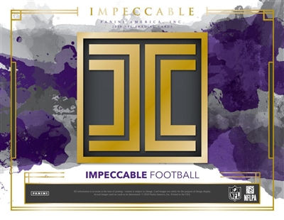 2018 Impeccable Football Case Break #1 (1 Team)