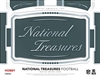 2018 National Treasures Football Tiered Serial # Case #2 Filler #3