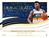 2019-20 Immaculate One Box Serial Number Break #3 (1 Spot)