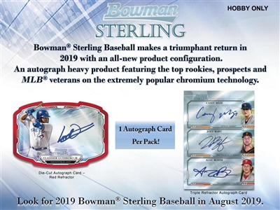 2019 Bowman Sterling Baseball 6 Box Half Case Break #4 (1 Team)