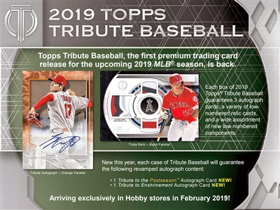 2019 Tribute Baseball Half Case Break #6 (1 Team)