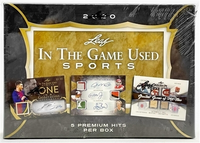 2020 Leaf In the Game Used Sports Serial Number Case Break #4 (1 Spot)