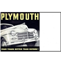 "9.5""x 12"" 16-page showroom sales catalog for 1946 Plymouth"