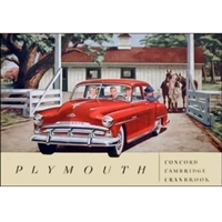 Original Prestige Sales Brochure for 1956 Plymouth