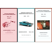 Pocket Decoding & Casting Number Book Set for 1969-1971 Plymouth - Dodge - Chrysler - Imperial