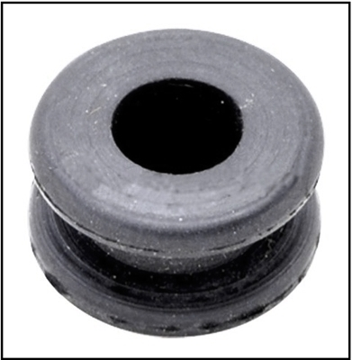 Upper cowling choke knob grommet for all 1949-62 Mercury 4-cyl and 6-cyl outboard motors