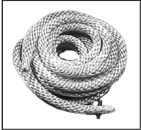 Nylon rewind starter rope for all Mercury KF9 - KG9; Mark 30 - 35A - 40 - 50 - 55 - 58 - 75 - 78 and 1960-62 Merc 300 - 350 - 400 - 450 - 500 - 600 - 700 - 800 - 850 - 1000