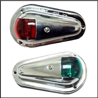 Vertically mounted side red/green navigation lights