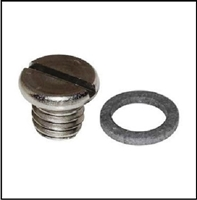 Lower unit gear oil drain plug for all 1949-66 4- and 6-cylinder Mercury outboards