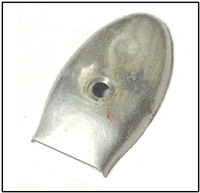 Used alluminum rewind sheave nut cover for all Mercury Mark 30 - 50 - 55 - 58 - 75 - 78 outboards