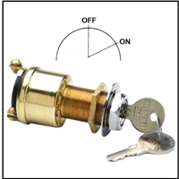 "ignition switch with ""OFF - RUN"" positions for boats with separate starter button"