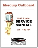 Factory service manual for all 1940-65 Mercury 2.5-100 HP outboard motors