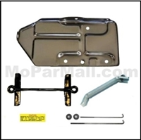 9-piece battery tray, brace and hold-down set for all 1971 Plymouth GTX - RaodRunner - Satellite and all 1971 Dodge Charger - Coronet