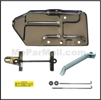 10-piece battery tray, brace and hold-down set for all 1972 Plymouth GTX - RoadRunner - Satellite and all 1972 Dodge Charger