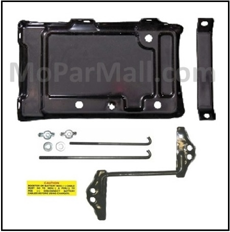 Battery Tray & Hold-Down Set for 1962-1965 MoPar B-Body