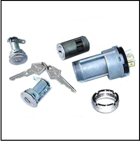 Ignition Switch - Switch Bezel - Matched Ign/Door Lock Set for 1969 MoPar  B-Body