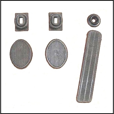 6-pc Pedal & Draft Seal Set for 1942-1948 Dodge Passenger Cars
