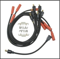 13-piece MoPar script spark plug wire set for 1970-72 Plymouth Duster - Scamp - Valiant and Dodge Dart - Demon with 318/340 engines