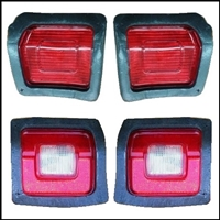 Tail - stop - reverse - turn signal  lamp lenses for 1973-74 Dodge Dart fastback