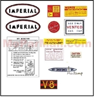 13-piece decal set for all 1959 Imperial