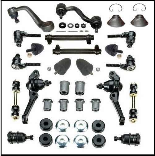 28-piece front suspension and steering linkage kit for 1962-66