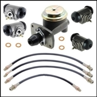 Master cylinder, wheel cylinder and flexible hydraulic hoses for all 1962-66 Dodge D100 trucks