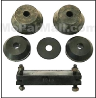 Front engine mount insulator, (2) rear upper insulators, (2) rear lower insulator and and (1) rear pad