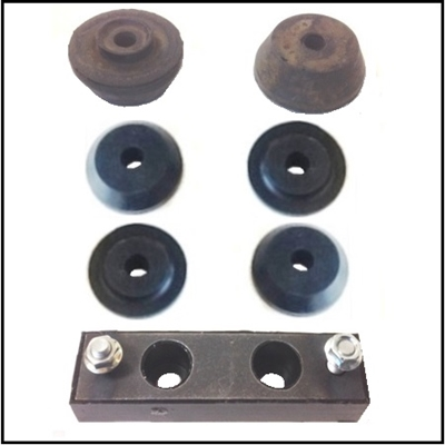 (4) front mount insulators and (3) rear motor mount insulators for 1952-53 DeSoto Hemi V-8