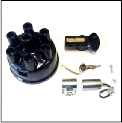 Distributor cap, rotor, contact set and condenser for 1939-47 Dodge 1/2 and 3/4 ton trucks