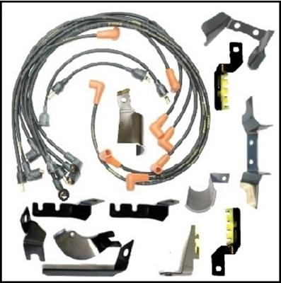 23-piece MoPar Date-Coded Spark Plug Wire & Bracket Set for 1971-1972  B-Body Big-Block