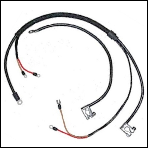 positive and negative battery cables for 1962-65 plymouth belvedere