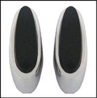 Pair of bumper guards with cushions for 1963-65 Plymouth Belvedere; 1963-64 Fury - Savoy - Sport Fury and 1965 Satellite