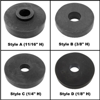 Molded rubber body mounting pad/shims for 1955-56 Chrysler Corp. passenger cars