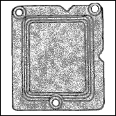 Heater blower motor housing seal for 1957-58 Chrysler Corp. passenger cars