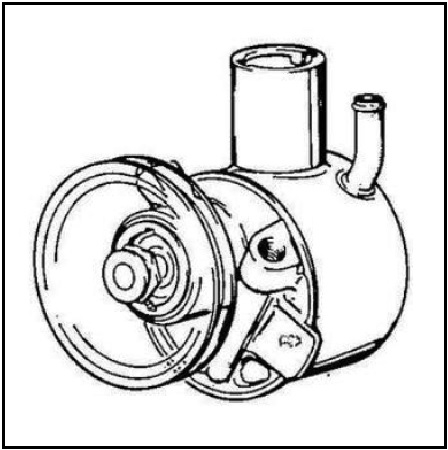 New Power Steering Pump For Dodge Monaco 1967-1976 N7222103 Vision OE 19319764