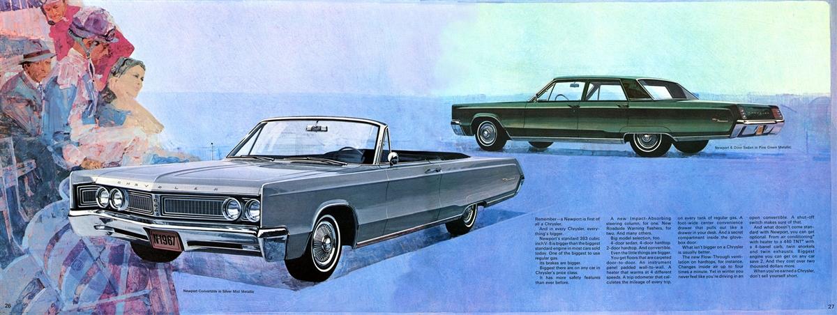 Large Prestige Sales Brochure for 1967 Chrysler