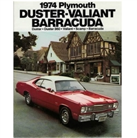 "12-page 9"" x 11"" showroom sales catalog for all 1974 Plymouth A-Body and E-Body"