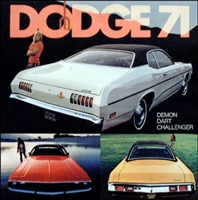 16-page showroom sales catalog for all 1971 Dodge A-Body & E-Body