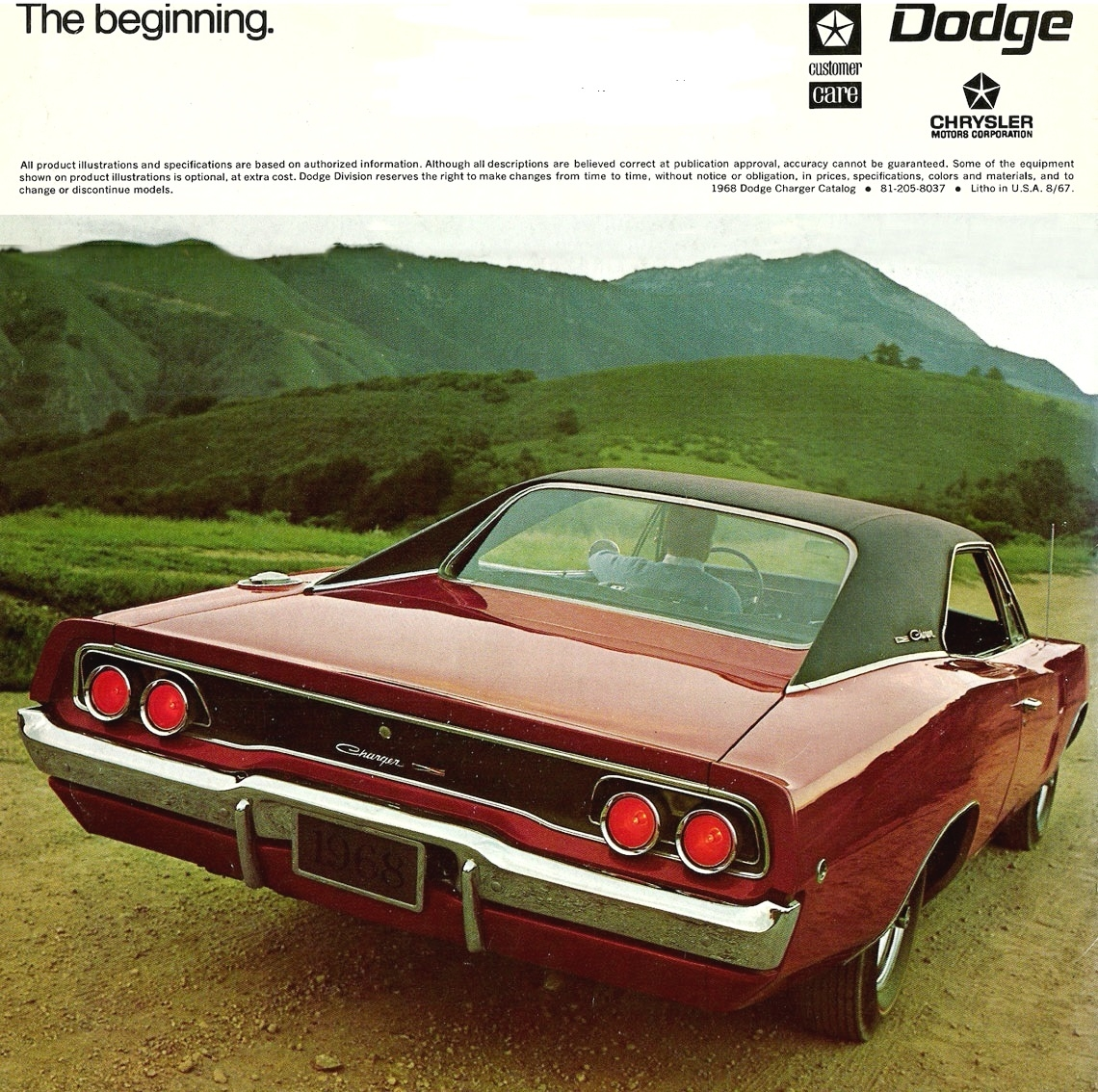 Original Sales Brochure for 1968 Dodge Charger