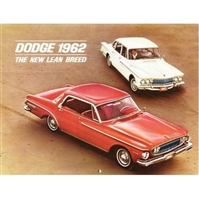 Large 20-page showroom sales catalog and 1962 calendar featuring the 1962 Dodge Dart and Lancer