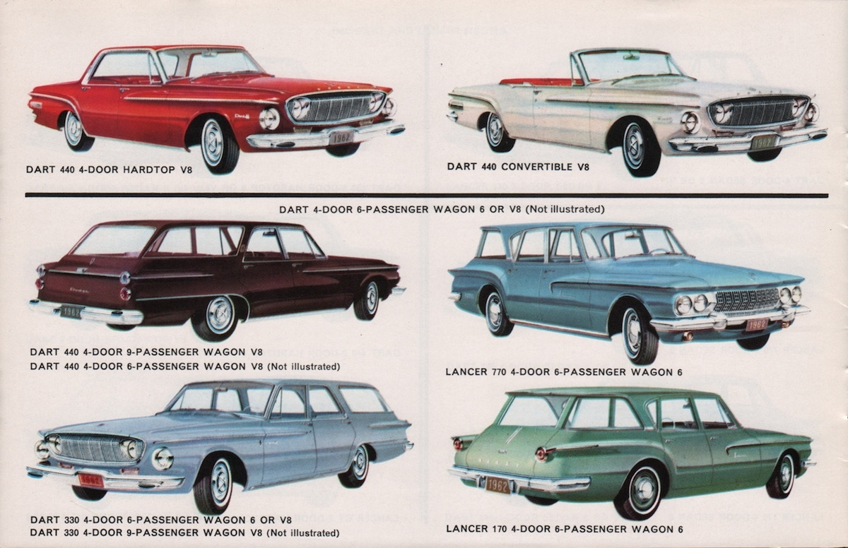 16 Page Showroom Sales Catalog For 1962 Dodge A Body B Body