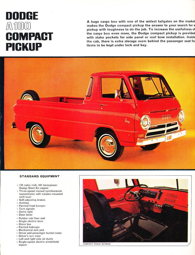 12 Page Color Catalog For 1964 Dodge A 100 Compact Vans Pickup Truck Our