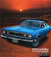"8-page 11""x 12"" showroom sales catalog for all 1970 Plymouth Duster - Duster 340 - Valiant"