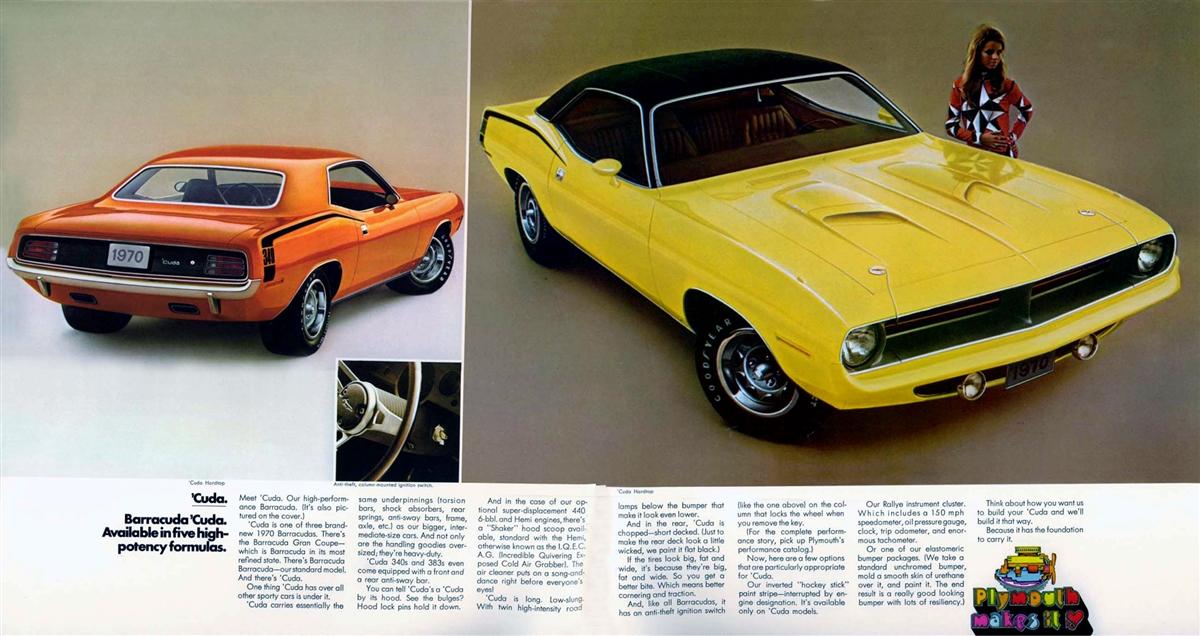 Original Sales Brochure for 1970 Plymouth Barracuda