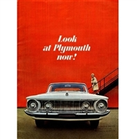 "14""x 10"" 16 page-color showroom sales catalog for all 1962 Plymouth Belvedere - Fury - Savoy - Sport Fury - Suburban"